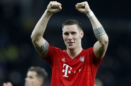 191002 -- LONDON, Oct. 2, 2019 Xinhua -- Bayern Munich s Niklas Sule celebrates victory after the UEFA Champions League Group B match between Tottenham Hotspur and Bayern Munich at The Tottenham Hotspur Stadium in London, Britain on Oct. 1, 2019. Bayern Munich won 7-2. Photo by Matthew Impey/Xinhua FOR EDITORIAL USE ONLY. NOT FOR SALE FOR MARKETING OR ADVERTISING CAMPAIGNS. NO USE WITH UNAUTHORIZED AUDIO, VIDEO, DATA, FIXTURE LISTS, CLUB/LEAGUE LOGOS OR LIVE SERVICES. ONLINE IN-MATCH USE LIMITED TO 45 IMAGES, NO VIDEO EMULATION. NO USE IN BETTING, GAMES OR SINGLE CLUB/LEAGUE/PLAYER PUBLICATIONS. SP BRITAIN-LONDON-FOOTBALL-UEFA CHAMPIONS LEAGUE-TOTTENHAM HOTSPUR VS BAYERN MUNICH PUBLICATIONxNOTxINxCHN