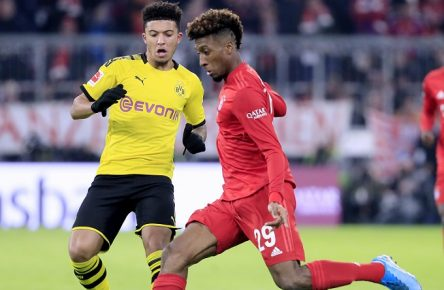 COMAN Kingsley Team FC Bayern Muenchen mit SANCHO Jadon Fussball Bundesliga DFL Saison 2019-2020 Spiel FC Bayern Muenchen - Borussia Dortmund am 09.11. 2019 in Muenchen DFL REGULATIONS PROHIBIT ANY USE OF PHOTOGRAPHS as IMAGE SEQUENCES and/or QUASI-VIDEO *** COMAN Kingsley Team FC Bayern Muenchen with SANCHO Jadon Football Bundesliga DFL Season 2019 2020 Game FC Bayern Muenchen Borussia Dortmund on 09 11 2019 in Muenchen DFL REGULATIONS PROHIBIT ANY USE OF PHOTOGRAPHS as IMAGE SEQUENCES and or QUASI VIDEO PUBLICATIONxINxGERxSUIxAUTxHUNxSWExNORxDENxFINxLUXxONLY