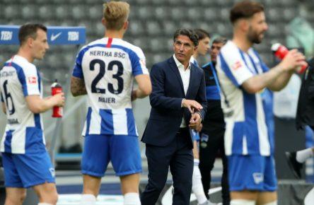 Bruno Labbadia führte die Hertha in ruhigere Fahrwasser.
