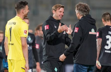 1.FC Heidenheim vs SV Werder Bremen - Relegation 02 - 06.07.2020 Florian Kohfeldt Trainer SV Werder Bremen, Frank Baumann Geschäftsführer Fußball Werder Bremen, Jiri Pavlenka Werder Bremen 01 nphgm001: Fussball: 1. Bundesliga: Saison 19/20: Relegation 02 1.FC Heidenheim vs SV Werder Bremen - 06.07.2020 Foto: gumzmedia/nordphoto/POOL DFL regulations prohibit any use of photographs as image sequences and/or quasi-video. EDITORIAL USE ONLY National and international News-Agencies OUT. Heidenheim Voith-Arena BW DEUTSCHLAND *** 1 FC Heidenheim vs SV Werder Bremen Relegation 02 06 07 2020 Florian Kohfeldt Trainer SV Werder Bremen , Frank Baumann Managing Director Football Werder Bremen , Jiri Pavlenka Werder Bremen 01 Sport nphgm001 Football 1 Bundesliga Season 19 20 Relegation 02 1 FC Heidenheim vs SV Werder Bremen 06 07 2020 Foto gumzmedia nordphoto POOL DFL regulations prohibit any use of photographs as image sequences and or quasi video EDITORIAL USE ONLY National and international News Agencies OUT Heidenheim Voith Arena BW GERMANY Poolfoto gumzmedia/nordphoto ,EDITORIAL USE ONLY