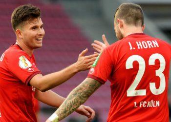 Elvis Rexhbecaj und Jannes Horn vom 1. FC Köln