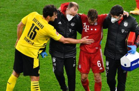 Joshua Kimmich (M.) wird dem FC Bayern wochenlang fehlen.
