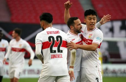 Endo, Castro, Gonzalez vom VfB Stuttgart