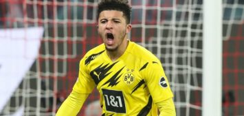 Torjubel - Torschütze Jadon Sancho Borussia Dortmund,7 trifft zum 0-1 - 1 Fussball Bundesliga Saison 2020-2021 Punktspiel RB Leipzig vs. Borussia Dortmund in der Red Bull Arena in Leipzig - Aktion,Fussball,Deutschland,Mann,Männer,09.01.2021 *** Goal celebration scorer Jadon Sancho Borussia Dortmund,7 hits to 0 1 1 Football Bundesliga season 2020 2021 point game RB Leipzig vs Borussia Dortmund at Red Bull Arena in Leipzig action,football,Germany,man,men,09 01 2021