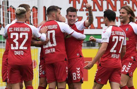Baptiste Santamaria trifft für den SC Freiburg