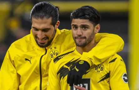 Mahmoud Dahoud und Emre Can vom BVB