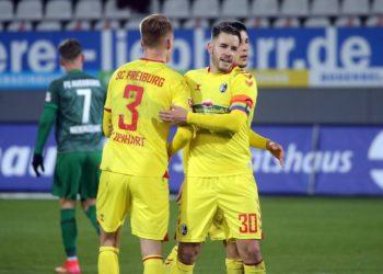 Christian Günter und Philipp Lienhart vom SC Freiburg