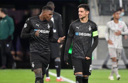 Breel Embolo und Lars Stindl von Borussia Mönchengladbach
