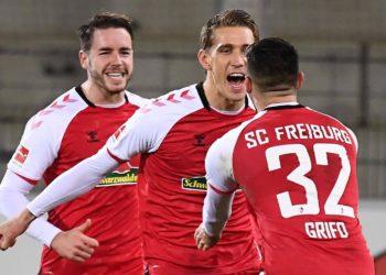 Christian Günter und Vincenzo Grifo vom SC Freiburg