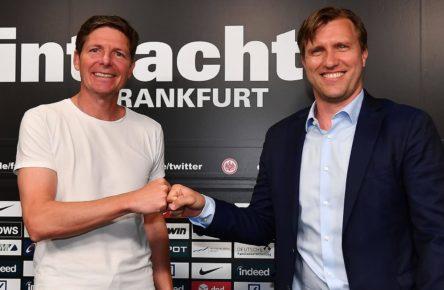 Oliver Glasner und Markus Krösche von Eintracht Frankfurt