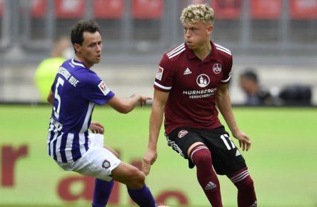 Robin Hack vom 1. FC Nürnberg könnte in die Bundesliga wechseln